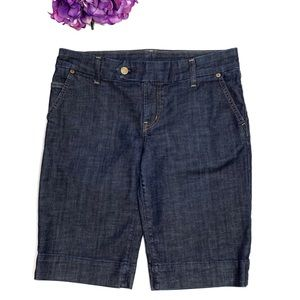 CITIZENS OF HUMANITY Dark Wash Bermuda Shorts 29
